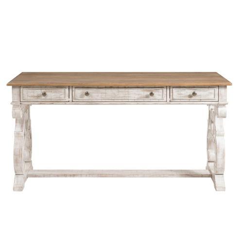 Riverside - Madison - Writing Desk - Caramel/rustic White Finish
