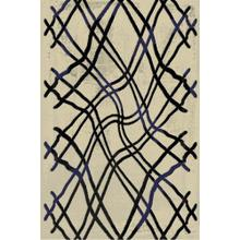 "Durable Flat Weave No Shedding Lifestyle 801 Area Rug by Rug Factory Plus - 7'6"" x 10'3"" / Navy"