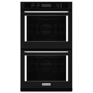 "KITCHENAID30"" Double Wall Oven with Even-Heat(TM) True Convection - Black"