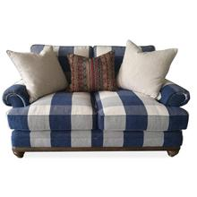 Blue Check Loveseat (Buffalo Downpour)