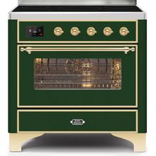 36 Inch Emerald Green Electric Freestanding Range