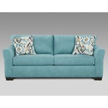 Liverpool Microfiber 2-Seater sofa with Pillows, in Sansations Capri Blue