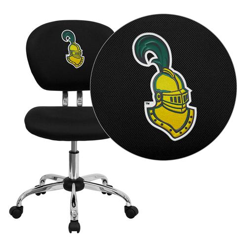 Clarkson University Golden Knights Embroidered Black Mesh Task Chair with Chrome Base