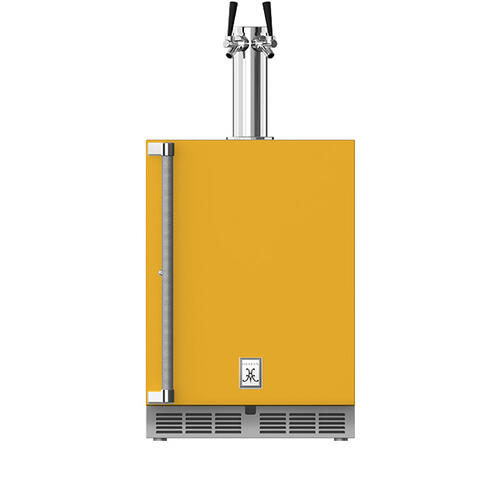 """Hestan - 24"""" Hestan Outdoor Double Faucet Beer Dispenser - GFDS Series - Sol"""