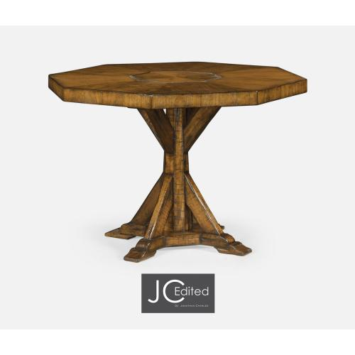 Octagonal Country Walnut Centre Table