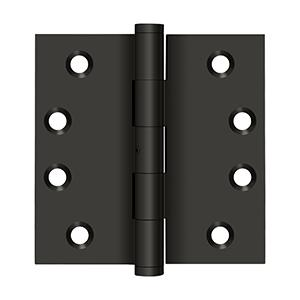 """Deltana - 4"""" x 4"""" Square Hinges - Oil-rubbed Bronze"""