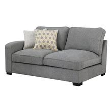 Repose Lsf Loveseat W/ 2 Pillows Storm Gray