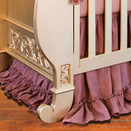 Amelia Linen Crib Skirt