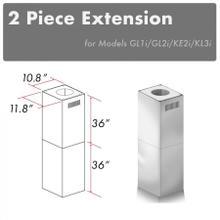 "View Product - ZLINE 2-36"" Chimney Extensions for 10 ft. to 12 ft. Ceilings (2PCEXT-GL1i/GL2i/KE2i/KL3i)"