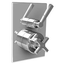 Fleetwood cross handle thermostatic with lever flow control trim only, to suit M1-4201 rough