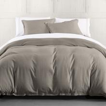 Hera Linen Duvet Cover, 4 Colors - Super Queen / Taupe