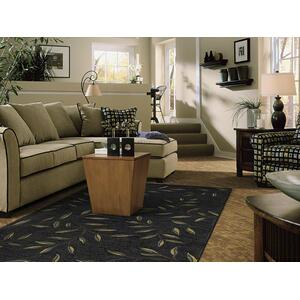 Midnight Laurel Rectangle Rug (8' X 11')