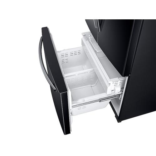 Samsung 26 cu. ft. French Door Refrigerator with Twin Cooling Plus in Black.  (This is a Stock Photo, actual unit (s) appearance may contain cosmetic blemishes. Please call store if you would like actual pictures). This unit carries our 6 month warranty, MANUFACTURER WARRANTY and REBATE NOT VALID with this item. ISI 39551