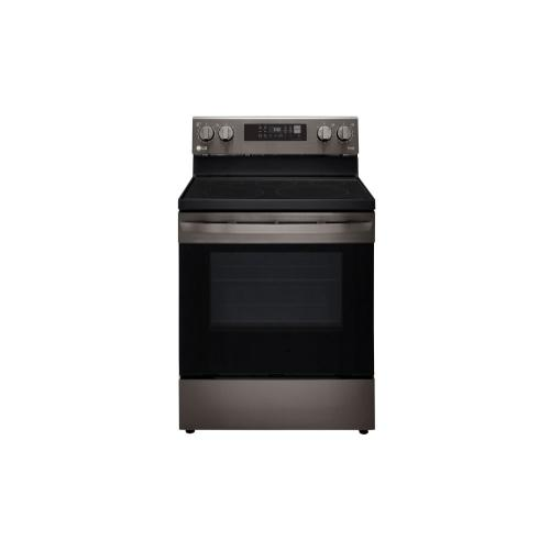 6.3 cu ft. Smart Wi-Fi Enabled Fan Convection Electric Range with Air Fry & EasyClean® (This is a Stock Photo of a New Out of Box Appliance, actual unit (s) appearance may contain cosmetic blemishes.  Please call store if you would like actual pictures).  This unit carries our 6 month warranty, MANUFACTURER WARRANTY and REBATE NOT VALID with this item. ISI 43967BB