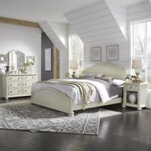 Provence King Bed, Nightstand and Dresser With Mirror