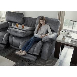 Power Headrest Power Lay Flat Recl Cnsl Lvst w/Ext Ottoman