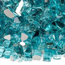 "See Details - 1/2"" Azuria Reflective, 10 Lb. Jar Fire Glass"