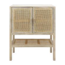 See Details - Wood, 35x48 2-rattan Door Cabinet, Natural