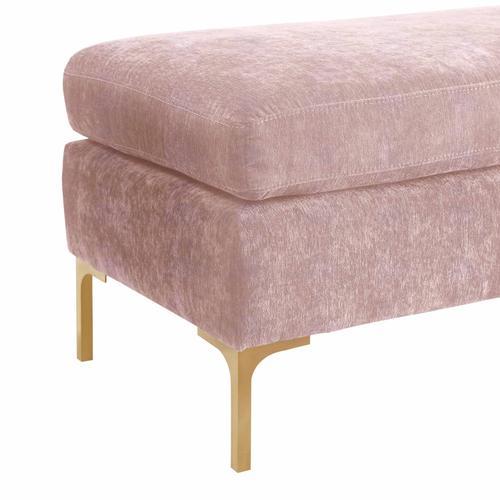 Product Image - Delilah Blush Textured Velvet Bench