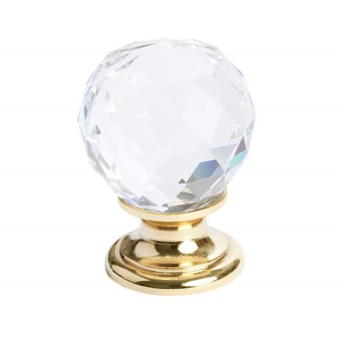 Europa Faceted Crystal Gold Knob