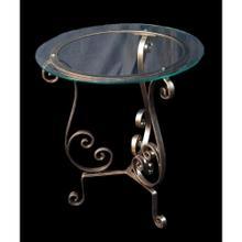 Farrah Glass Top Side Table
