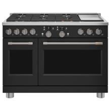 "Café 48"" Smart Dual-Fuel Commercial-Style Range with 6 Burners and Griddle (Natural Gas) - Coming Soon"