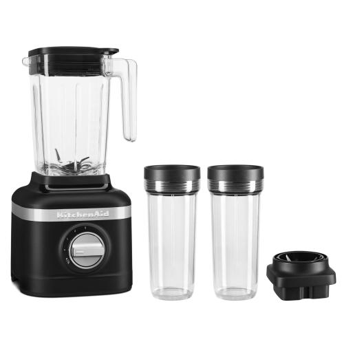 K150 3 Speed Ice Crushing Blender with 2 Personal Blender Jars - Black Matte