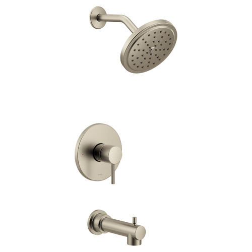 Align brushed nickel m-core 3-series tub/shower
