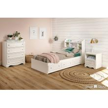 Mates Bed with 3 Drawers - Pure White