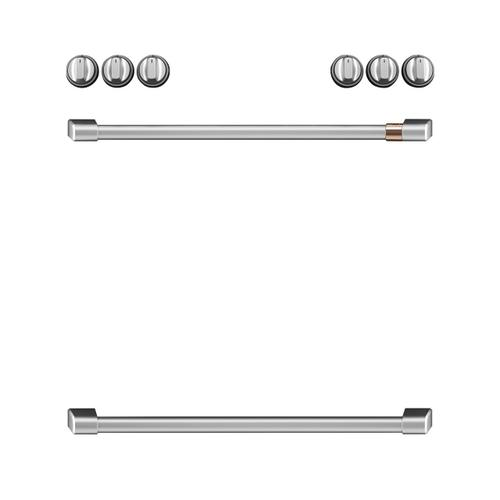 Cafe - Café™ Front Control Induction Knobs and Handles - Brushed Stainless