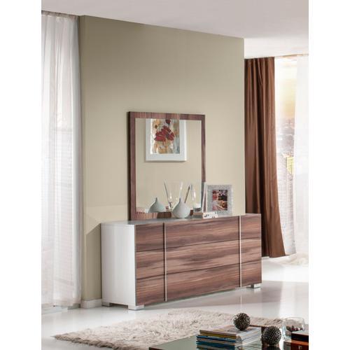 Nova Domus Giovanna Italian Modern White & Cherry Dresser