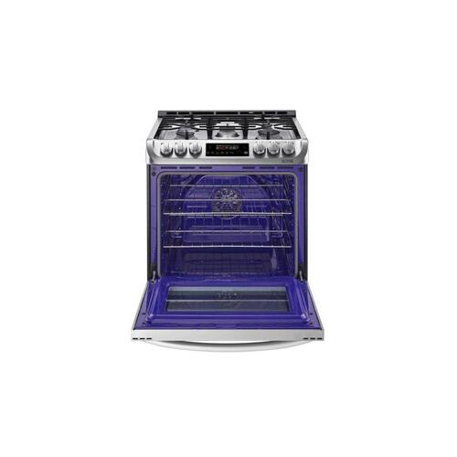 LG - 6.3 cu. ft. Gas Single Oven Slide-in Range with ProBake Convection® and EasyClean®
