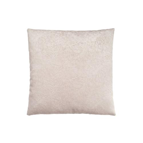"""Gallery - PILLOW - 18""""X 18"""" / LIGHT TAUPE FEATHERED VELVET / 1PC"""
