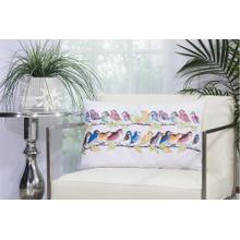 "Outdoor Pillows L1159 White 1'2"" X 2' Throw Pillow"