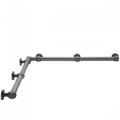 "Satin Brass - G70 60"" x 60"" Inside Corner Grab Bar"