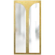 See Details - TURNER MIRROR- GOLD  Gold Finish on Resin Frame  Plain Glass Beveled Mirror