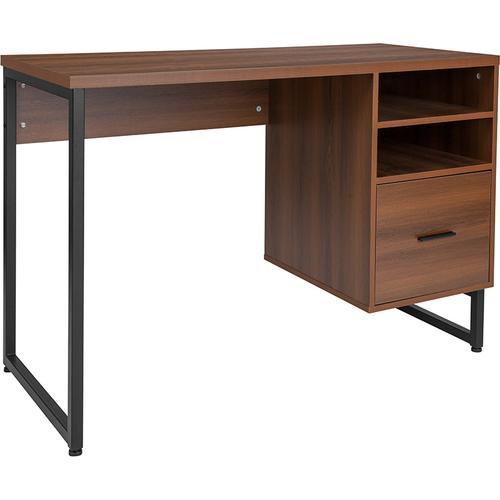 Flash Furniture - Lincoln Collection Computer Desk in Rustic Wood Grain Finish