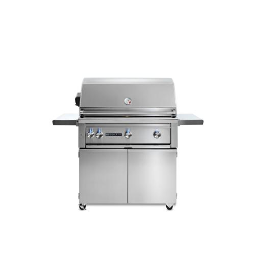"36"" Sedona by Lynx Freestanding Grill with 2 Stainless Steel Burners and ProSear Burner and Rotisserie, NG"