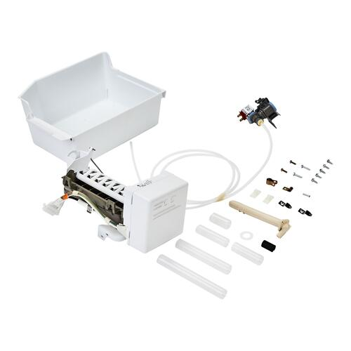 Top Freezer Refrigerator Ice Maker Assembly - White