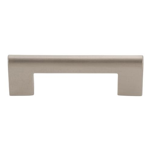 Round Rail Pull 3 Inch (c-c) - Brushed Nickel