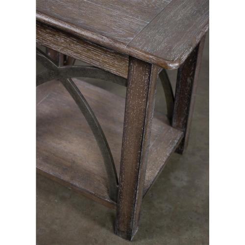 Helmsley - Side Table - Brushed Auburn Finish