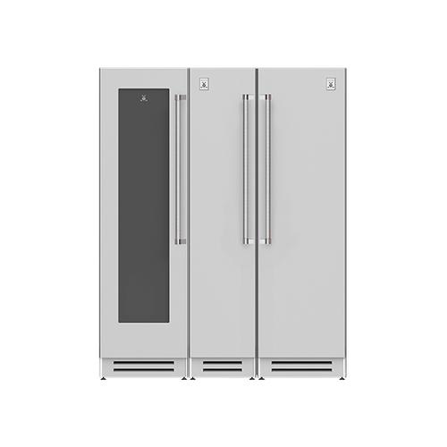 "Hestan - 66"" Wine Cellar (L), Column Freezer and Refrigerator ® Ensemble Refrigeration Suite - Froth"
