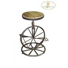 View Product - Iron Counter Height Stool, Adjustable Height