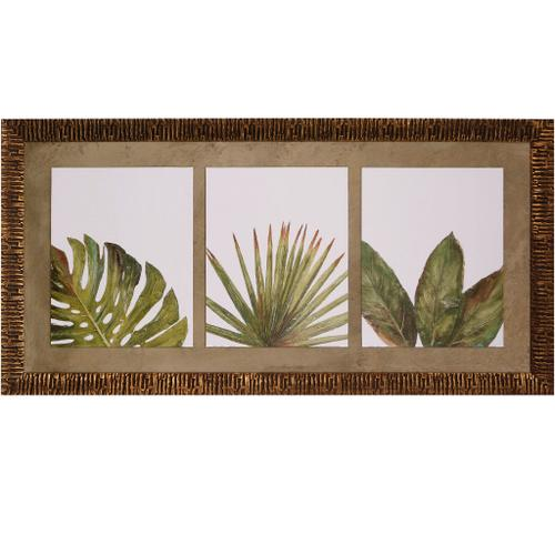 Style Craft - ORGANIC TRIPTYCH  62in w X 31in ht  Textured Framed Print  Made in USA