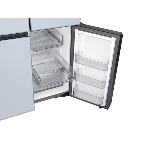 Samsung - 29 cu. ft. Smart BESPOKE 4-Door Flex™ Refrigerator with Customizable Panel Colors in Sky Blue Glass