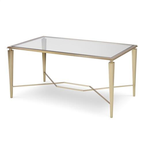 Intersection Cocktail Table - Brass