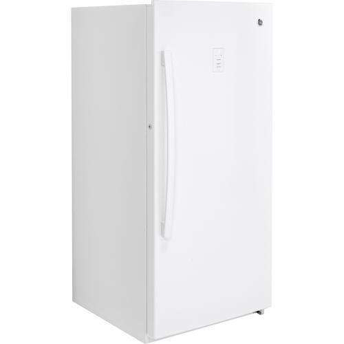 Gallery - GE 14.1 Cu. Ft. Frost Free Upright Freezer White FUF14DLRWW
