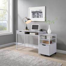 """Contempo 40"""" Desk With Drawer and Shelf"""