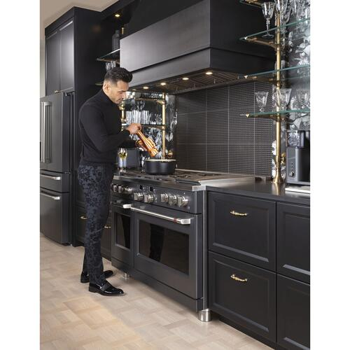 """Cafe - Café™ 48"""" Smart Dual-Fuel Commercial-Style Range with 6 Burners and Griddle (Natural Gas)"""
