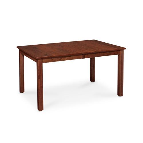 "Sheffield Leg Table, 38""x54"", 1-18"" Leaf, Soft Maple #28 Bourbon"
